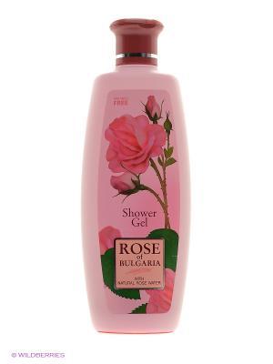 Гель для душа Rose of Bulgaria Biofresh. Цвет: бледно-розовый