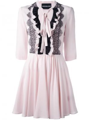 Платье с оборками Marco Bologna. Цвет: розовый и фиолетовый