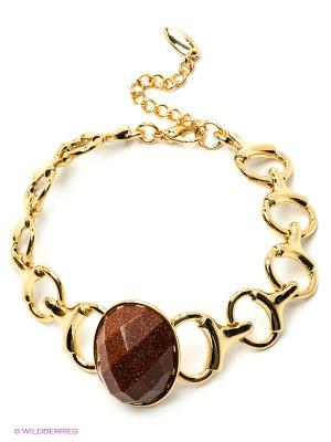 Браслет Bijoux Land. Цвет: коричневый, золотистый