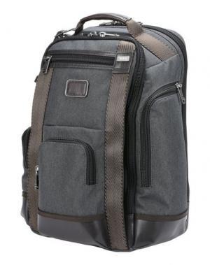 Рюкзаки и сумки на пояс TUMI. Цвет: стальной серый