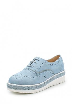 Ботинки Vera Blum. Цвет: голубой