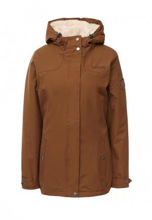 Куртка утепленная Regatta. Цвет: коричневый