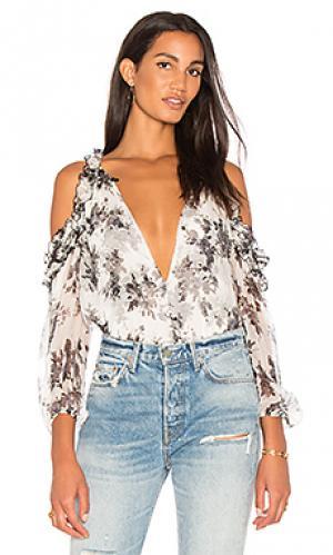Блуза с рюшами daisy Karina Grimaldi. Цвет: белый