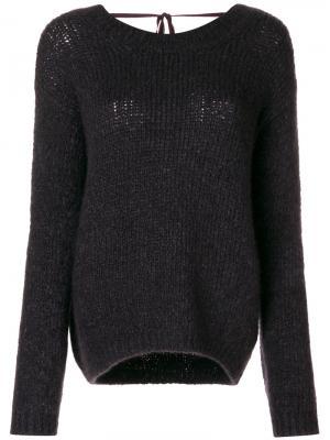 Свободный свитер Forte. Цвет: чёрный