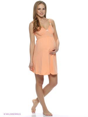 Ночная сорочка Hunny Mammy. Цвет: оранжевый