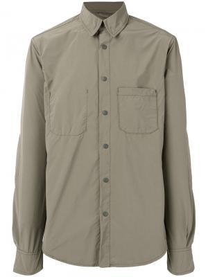 Рубашка на пуговицах Aspesi. Цвет: зелёный