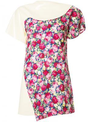 Блузка с эффектом тромплей Les Animaux. Цвет: телесный