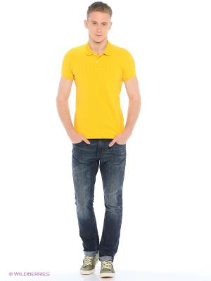 Футболка-поло Colin's. Цвет: желтый