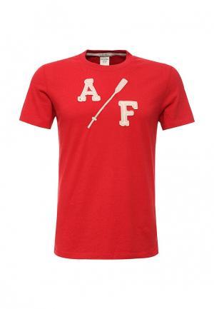 Футболка Abercrombie & Fitch. Цвет: красный