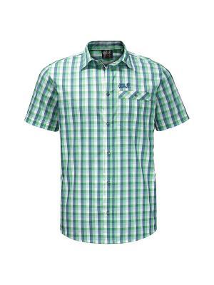 Рубашка NAPO RIVER SHIRT Jack Wolfskin. Цвет: зеленый