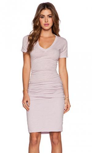 Платье-футболка heritage MONROW. Цвет: фиолетовый