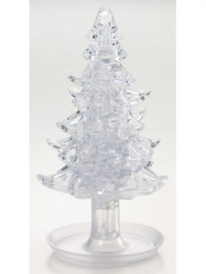 Головоломка 3D Елочка Белая Crystal puzzle. Цвет: черный, белый, желтый