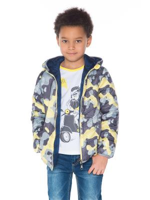 Куртка Gino de Luka. Цвет: синий, желтый