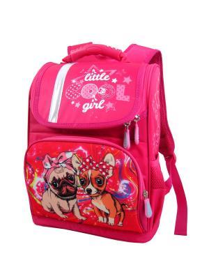 Ранец ученический Stelz. Цвет: бежевый, розовый, кремовый