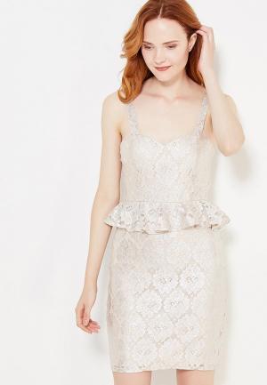 Платье Miss Selfridge. Цвет: серебряный