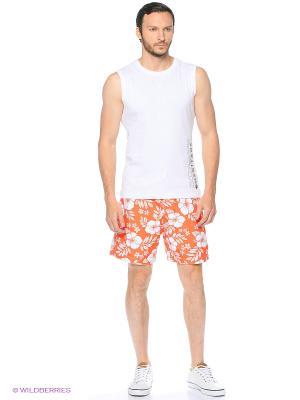 Бордшорты Colin's. Цвет: оранжевый, белый