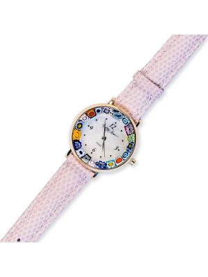 Часы наручные Bottega Murano. Цвет: сиреневый, золотистый