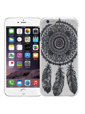 Чехол для iPhone 6/6s Мехенди Ловец снов (черный) Kawaii Factory. Цвет: черный, белый