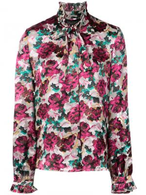 Рубашка с цветочным рисунком Saloni. Цвет: многоцветный
