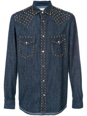 Классическая джинсовая рубашка Paul Smith. Цвет: синий