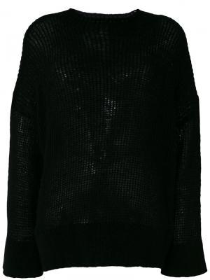 Пуловер с высокой горловиной в рубчик 8pm. Цвет: чёрный