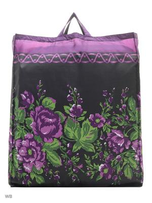 Сумка хозяйственная болоньевая Римейн. Цвет: фиолетовый, черный