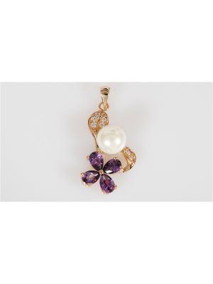 Кулон Lotus Jewelry. Цвет: белый