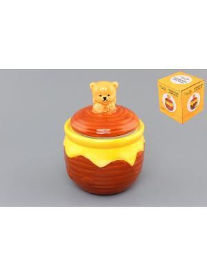 Горшочек для меда Мишка косолапый лапки Elan Gallery. Цвет: желтый, коричневый