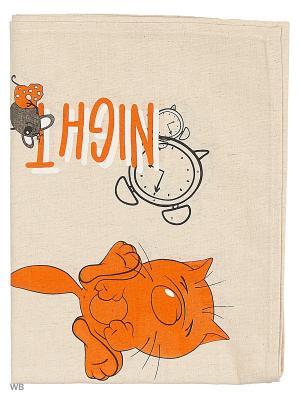 Полотенца Утро-ночь, 2 шт., с петелькой GrandStyle. Цвет: серый, оранжевый