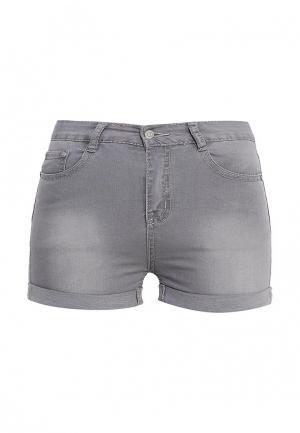 Шорты джинсовые G&G. Цвет: серый