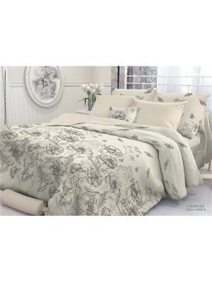 Комплект постельного белья 2,0-сп, VEROSSA,  наволочки 50*70см, Gravure Verossa. Цвет: бежевый