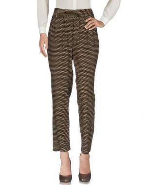 Повседневные брюки DIXIE. Цвет: темно-коричневый
