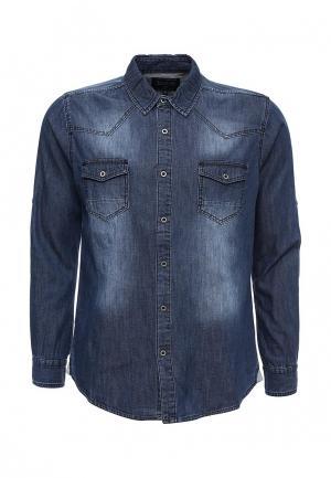 Рубашка джинсовая Frank NY. Цвет: синий