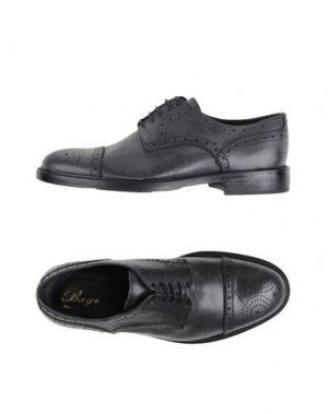 Обувь на шнурках BAGE. Цвет: свинцово-серый