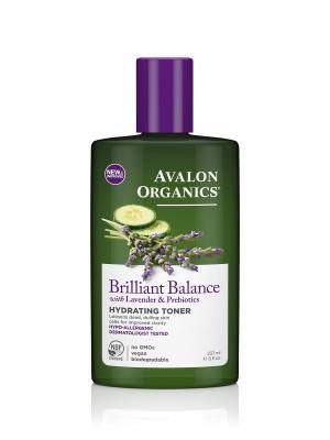 Увлажняющий тоник с лавандой и пребиотиками, 237 мл Avalon Organics. Цвет: прозрачный