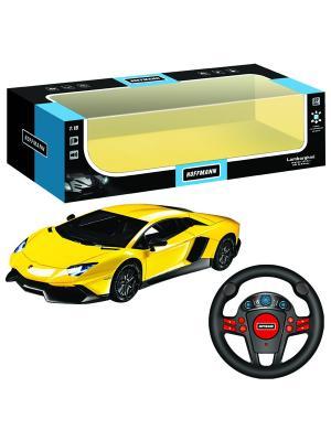 Машина р/у Lamborghini Aventador LP720-4 50th Anniversary 1:16 HOFFMANN. Цвет: желтый