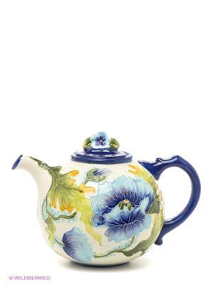 Заварочный чайник Голубые маки Blue Sky. Цвет: синий