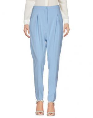 Повседневные брюки BERNA. Цвет: небесно-голубой