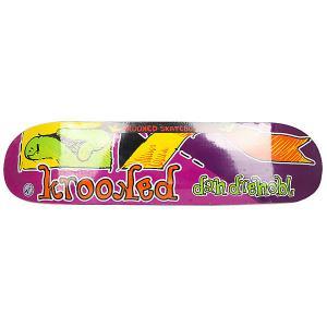 Дека для скейтборда  Drehobl Frakshun Purple 31.25 x 7.75 (19.7 см) Krooked. Цвет: фиолетовый,мультиколор