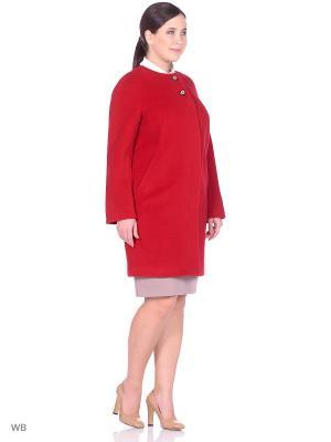 Пальто SHARTREZ. Цвет: красный