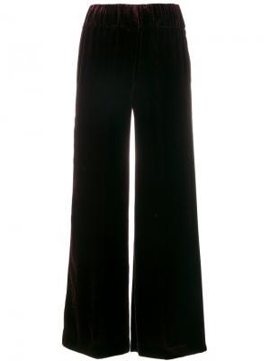 Бархатные расклешенные брюки Aspesi. Цвет: красный