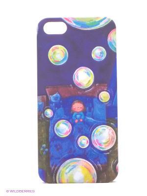 Чехол IPhone 5 KAFKAFIVE-29 Mitya Veselkov. Цвет: синий, черный