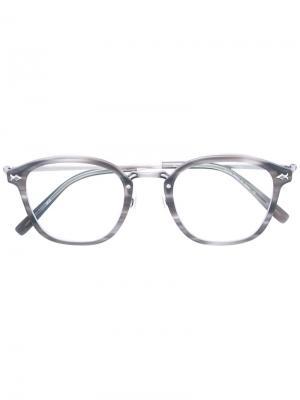 Очки с круглой оправой Matsuda. Цвет: серый