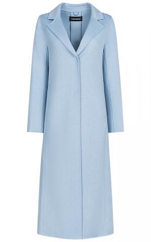 Длинное голубое пальто La Reine Blanche