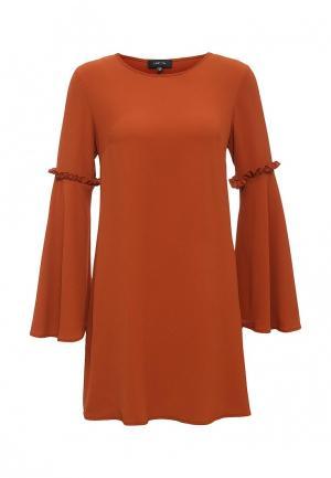Платье LOST INK. Цвет: коричневый