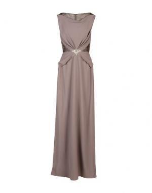 Длинное платье JENNY PACKHAM. Цвет: голубиный серый