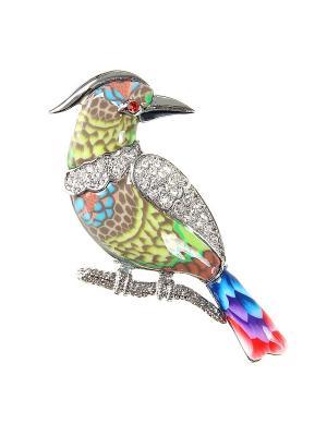 Брошь Infiniti. Цвет: серебристый, синий, зеленый