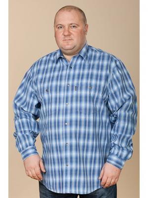 Рубашка Westrenger. Цвет: серо-голубой
