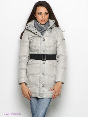 Пальто Finn Flare. Цвет: светло-серый