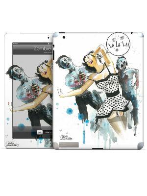 Виниловая наклейка для iPad Zombie Love-Lora Zombie. Gelaskins. Цвет: серый, голубой